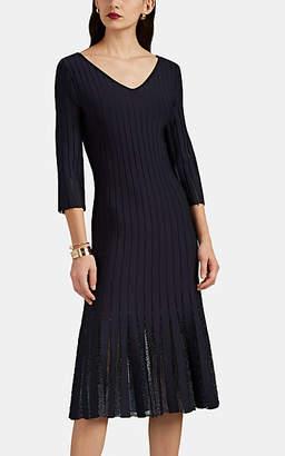Zac Posen Women's Embellished Compact Rib-Knit Dress - Navy