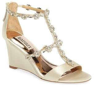 Badgley Mischka Tabby Embellished Wedge Sandal