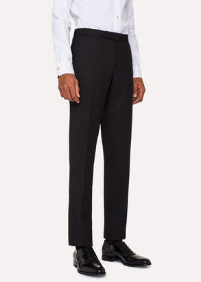Paul Smith Men's Slim-Fit Black Wool 'A Suit To Travel In' Pants