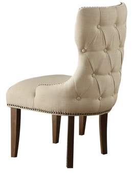 ACME Furniture ACME Inverness Chair, Fabric & Salvage Oak (Table & Banquette Bench Separately)