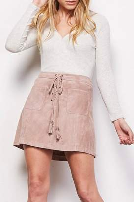 Cupcakes And Cashmere Marcel Faux-Suede Skirt