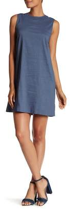 Theory Keshelle Back Lace-Up Linen Blend Dress