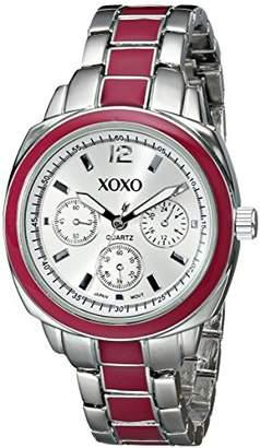 XOXO Women's XO111 Dial -tone and Pink Enamel Bracelet Watch
