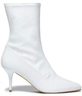Stuart Weitzman Clingy Patent-Leather Ankle Boots