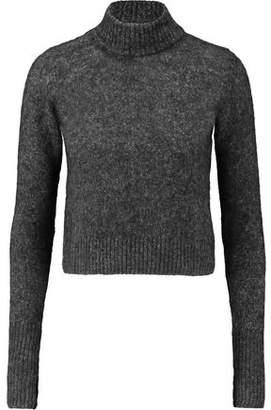 Ganni Woman Cable-knit Merino Wool-blend Turtleneck Sweater Black Size L Ganni MG08c6ET9