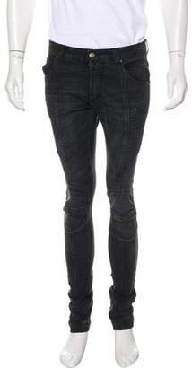 Pierre Balmain Biker Skinny Jeans