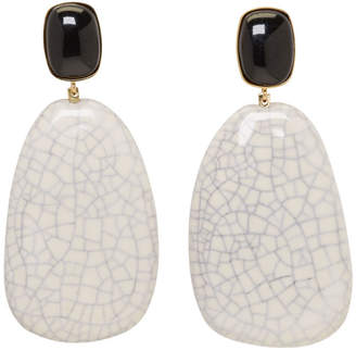 Isabel Marant Ecru Square Earrings