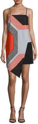 Milly Octagon-Print Asymmetric Dress