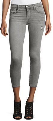 Current/Elliott The Stiletto Cropped Skinny Jeans, Sellwood Destroy $238 thestylecure.com