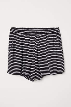 H&M Wide-cut Shorts - White