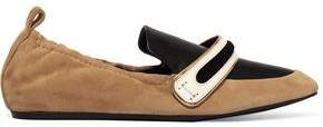 Lanvin Suede And Leather Slippers