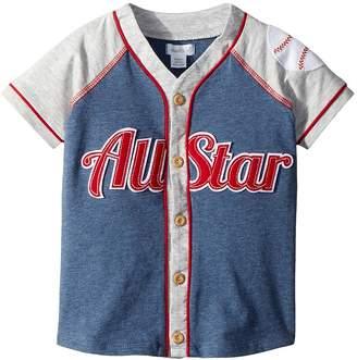 Mud Pie All Star Button Down Short Sleeve Shirt Boy's Clothing