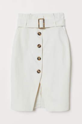 H&M Skirt with Belt - White