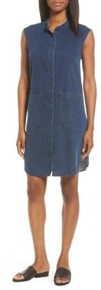 Women's Eileen Fisher Lightweight Denim Shirtdress $218 thestylecure.com