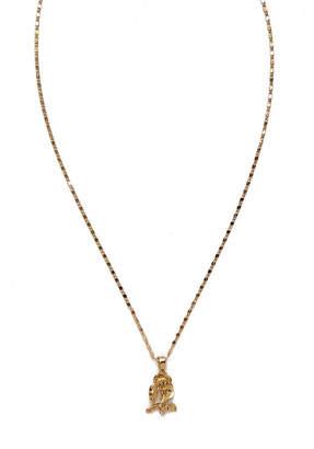 Vanessa Mooney The Mini Gold Rose Necklace