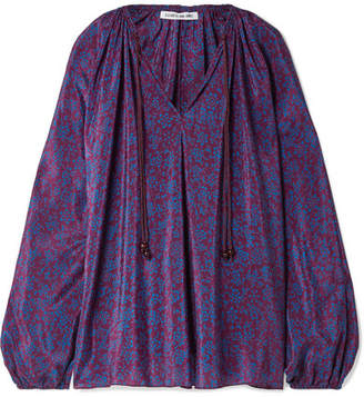 Elizabeth and James Chance Printed Silk Blouse - Purple