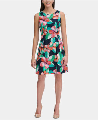 a192275c9feb Tommy Hilfiger Floral-Printed Eyelet Fit & Flare Dress