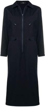 Y's zip front maxi dress