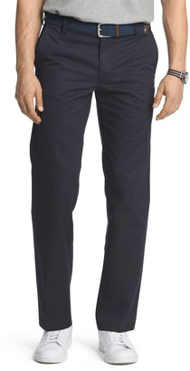 Izod Men's American Chino Slim-Fit Wrinkle-Free Flat-Front Pants