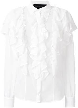 Christian Pellizzari regular fit ruffle blouse
