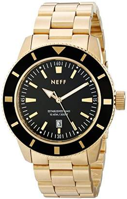 Neff Men's NF0233 Pretender Analog Display Japanese Quartz Silver Watch