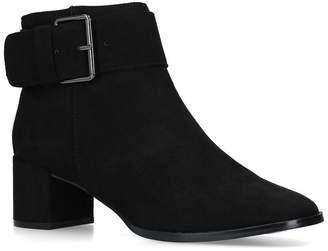 Nine West Black 'Castle' Low Heel Ankle Boots