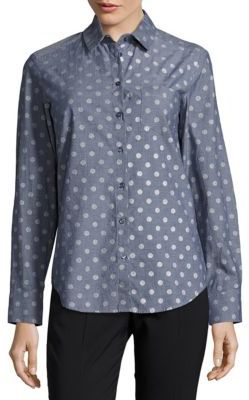 Max Mara Marmo Polka-Dotted Cotton Shirt