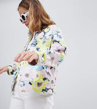Asos Design Petite Printed Floral Jacket