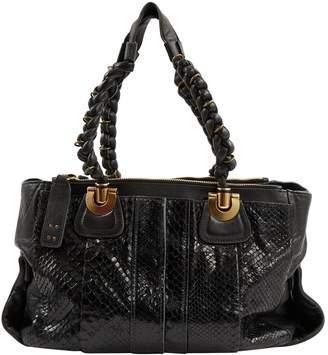 Chloé Black Python Handbag