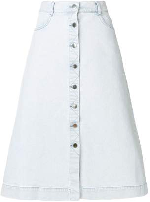 Stella McCartney buttoned A-line skirt