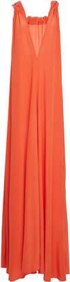 Kalita Camille Reversible Bow-Detailed Silk Maxi Dress