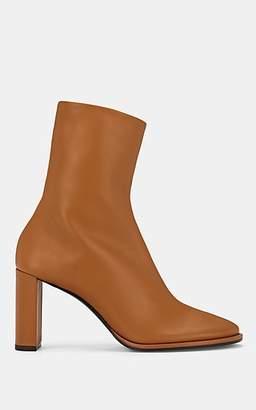 The Row Women's Tea Time Leather Zip Boots - Beige, Tan