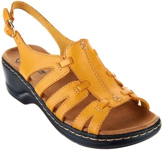 Clarks Leather Lightweight Sandals - Lexi Marigold