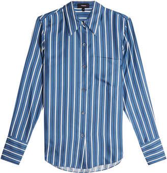 Theory Printed Silk Shirt
