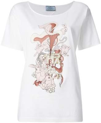 Prada rabbit illustrated T-shirt