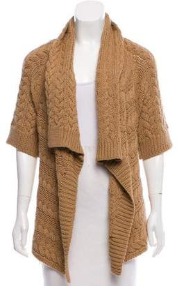 Calypso Three-Quarter-Sleeve Asymmetrical Cardigan