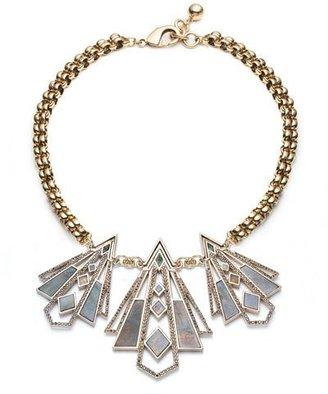 Lulu Frost Odeon Three-Pendant Labradorite Necklace $575 thestylecure.com