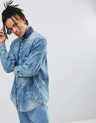 Cheap Monday Acid Wash Denim Shirt