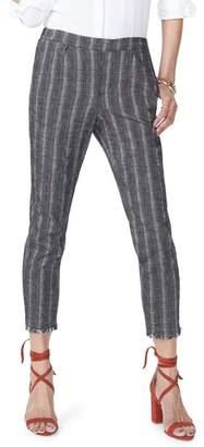 NYDJ Hidden Drawstring Stripe Crop Pants