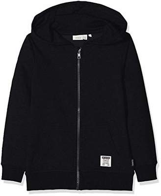 Name It Boy's Nkmhoraz Bru SWE Card Wh Noos Sweat Jacket Black