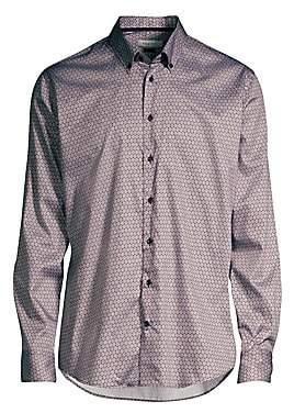 Bugatti Men's Honeycomb Print Sport Shirt