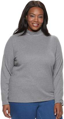 Croft & Barrow Plus Size Essential Mockneck Top