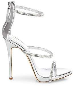 Giuseppe Zanotti Women's Swarovski Crystal Accented Leather Sandals