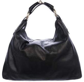 Gucci Leather Large Horsebit Hobo