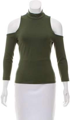 L'Agence Cold Shoulder Knit Top