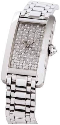 Cartier American Tank watch in white gold