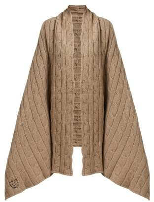 BEIGE Queene And Belle - Aspen Cable Knit Cashmere Wrap - Womens