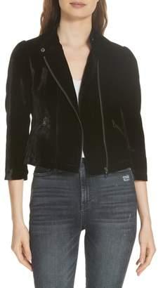Rebecca Taylor Velvet Moto Jacket