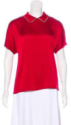Chanel Silk Embellished Top w/ Tags