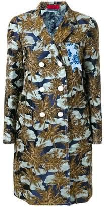 The Gigi palm tree print coat